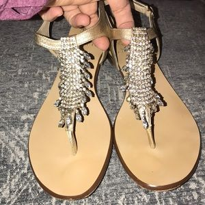 Vince Camuto gold diamond sandals